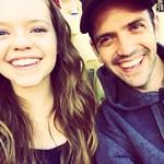 Jade Pettyjohn with her father