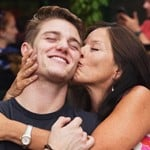 Nico Greetham with his mother