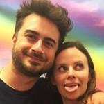 Sarah Ramos with Matt Spicer