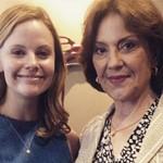 Sarah Ramos with her mom